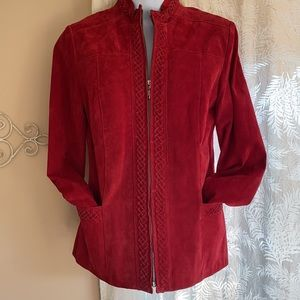 Guillaume Red Suede Jacket size xs/s